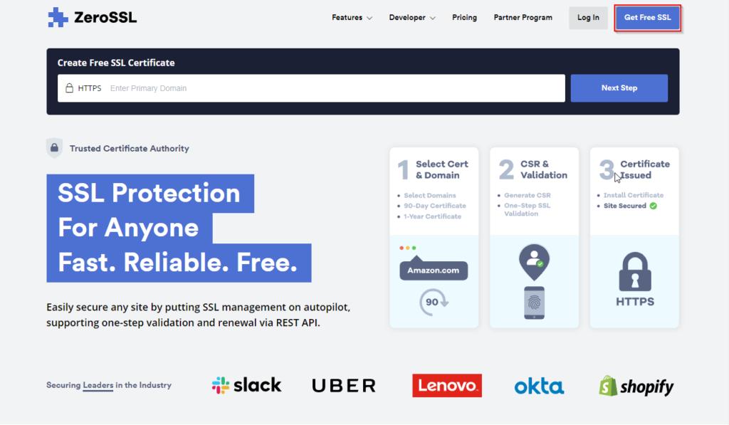 certificados ssl gratis en Zero SSL