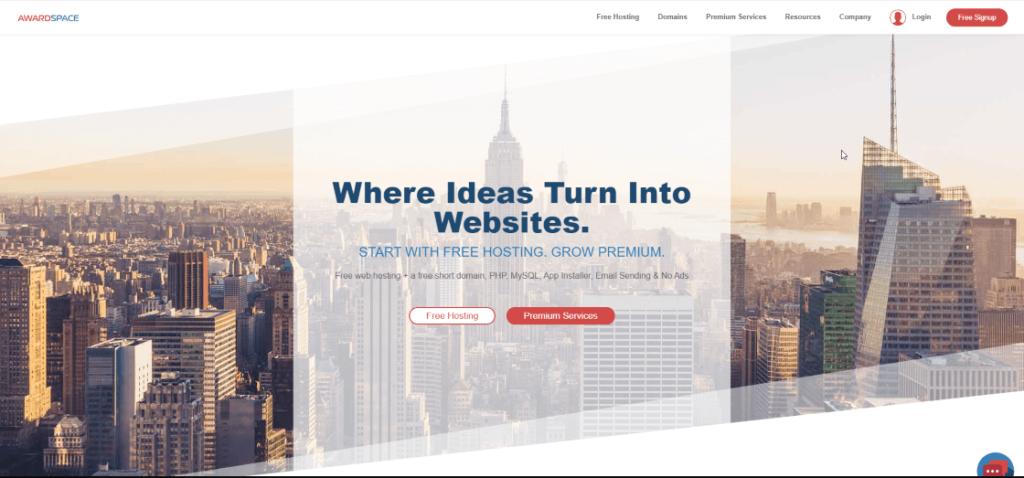 awardspace servicio de hosting gratis